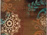 Chocolate Brown and Turquoise area Rugs Emerson 2822a Brown by Sphinx oriental Weavers