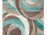 Chocolate Brown and Turquoise area Rugs Gaeta Abstract Teal Brown area Rug