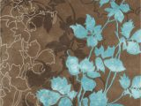 Chocolate Brown and Turquoise area Rugs Noble House Dahlia Brown & Turquoise area Rug