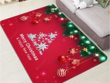 Christmas area Rugs for Sale Christmas Tree Balls Lights Greeting Pattern Water Absorption area Rug