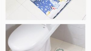 Christmas Bath Rugs Accessories Christmas Decorating Carpet Bath Rug toilet Mat Antiskid Doormat toilet Accessories Decoration Home Rugs for Kitchen La Alfombra