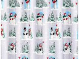 Christmas Bathroom Rugs and towels Duschvorhänge Winter Cardinals Christmas Bathroom Collection
