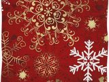 Christmas Bathroom Rugs and towels Pfrewn Christmas Red Gold Snowflake Hand towels 16×30 In Bathroom towel Sweet Hearts Ultra soft Highly Absorbent Small Bath towel Merry Christmas