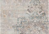 Ciato Blue Vintage Modern Rug Well Woven Kensington Ciato Blue Modern Medallion Vintage Distressed area Rug 53 X 73