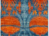 Citium Blue area Rug One Of A Kind Caline Hand Knotted Blue 39 X 61 Wool area Rug