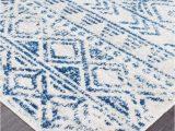 Cobalt Blue Modern Rug Braga Ivory & Cobalt Blue Tribal Pattern Rug