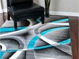 Contemporary area Rugs for Living Room 2035 Turquoise
