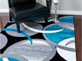 Contemporary area Rugs for Living Room Turquoise Modern Rug
