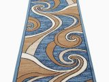 Contemporary area Rugs orange and Blue Bellagio Modern Long Contemporary Runner area Rug Blue Swirl Design 144 32 Inch X 15 Feet 10 Inch