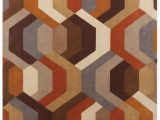 Contemporary area Rugs orange and Blue the Galaxy Multi Collection Features A Contemporary 100