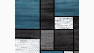 Contemporary Modern Boxes Blue Grey area Rug Contemporary Modern Boxes Blue Gray 8 Ft X 10 Ft area