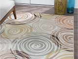 Contemporary Multi Color area Rugs Ivory Contemporary Circles area Rug Modern Geometric Swirls Multi Color Carpet