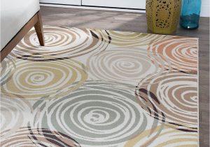 Contemporary Multi Color area Rugs Ivory Contemporary Circles area Rug Modern Geometric Swirls Multi Color Carpet