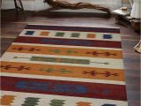 Contemporary Multi Color area Rugs Rugsotic Carpets Hand Woven Flat Weave Kilim Wool 5 X8 area Rug Contemporary Multicolor D Walmart