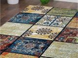 Contemporary Multi Color area Rugs Rugsotic Carpets Machine Woven Heatset Polypropylene 10 X13 area Rug Contemporary Multicolor M