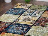 Contemporary Multi Color area Rugs Rugsotic Carpets Machine Woven Heatset Polypropylene 10 X13 area Rug Contemporary Multicolor M