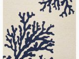 Coral and Navy area Rug Coral Branch Out area Rug Navy Blue and White