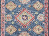 Coral and Navy area Rug Surya Bonifate Bft 1005 area Rugs