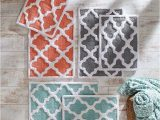 Coral Bath towels and Rugs 100 Best Bath Images