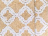 "Cotton Bathroom Rug Sets Chesapeake Merchandising Double Quatrefoil 2pc Straw Bath Rug Set 21""x 34"" & 24""x40"""