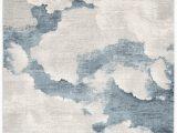 Cream and Light Blue Rug Kraus Abstract Cream Light Blue area Rug