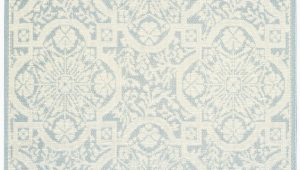 Cream and Light Blue Rug Nourison Aruba Arb02 Light Blue Cream area Rug