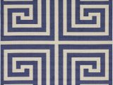 Cream and Navy Blue area Rugs Ellery Geometric Cream Navy Blue area Rug
