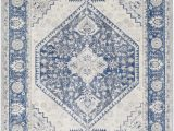 Cream and Navy Blue area Rugs Swaney Power Loom Navy Cream Rug