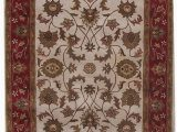 Cream and Red area Rugs Aaryan Cream Red area Rug