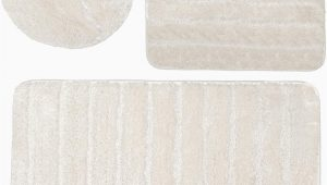 Cream Bathroom Rug Set Baltic Linen Bellados Luxury Bath Rug 1 Mat 1 Contour 1 Universal toilet Set Lid Cover Cream 3 Piece