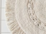 Cream Colored Bath Rugs Raine Crochet Round Bath Mat In 2020