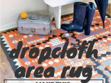 Create Your Own area Rug Paint A Dropcloth Rug