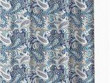 Croscill Bath Rugs Discontinued Marine Blue Gray White Fabric Shower Curtain Decorative Paisley Design