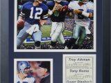 Dallas Cowboys Football Field area Rug Dallas Cowboys Cowboy Quarterbacks Framed Memorabili