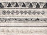 Danny Gray Ivory area Rug Hemera Shaggy Tribal Texture Gray Rug