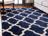 Dark Blue Fluffy Rug Navy Blue Unique Loom 7 X 10 Trellis Rug area Rugs