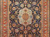 Dark Blue Persian Rug Navy Blue Background Antique Persian Tabriz Rug