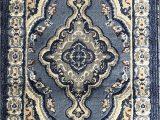 Dark Blue Persian Rug Traditional oriental Door Mat Persian Rug Light Blue Navy Gray Brown Design 520 31 Inch X 4 Feet 11 Inch