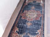 Dark Blue Runner Rug 2 X 6 Arcadia Runner Rug