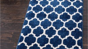 Dark Blue Runner Rug Dark Blue 2 7 X 8 Lattice Runner Rug
