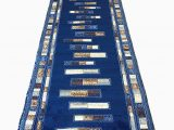 Dark Blue Runner Rug Emirates Modern Long Runner Rug Dark Blue Design 504 31 Inch X 15 Feet 8 Inch