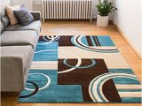 Dark Brown and Blue area Rug Compare Price to Blue and Brown Rug Dreamboracay Com
