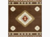 Dark Brown and Blue area Rug Millwood Pines Thornton Dark Brown Baby Blue area Rug