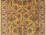 Dark Brown and Gold area Rugs Minatare Hand Knotted Wool Dark Gold area Rug