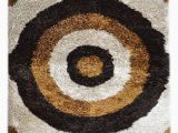 Dark Brown and Gold area Rugs toole Hand Tufted Ivory Dark Brown Gold area Rug