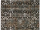 Dark Brown and Gray area Rug Bartley Geometric Dark Brown area Rug