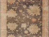 Dark Brown Bath Rugs Ve Able Dye Antique Floral Dark Brown Oushak Turkish