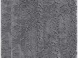 Dark Gray Bath Rugs Enkosi Chenille Bathroom Rug Mat Extremely soft Machine Washable Best Carpet Mats for Tub Shower and Bath Room 2 30×20 Rectangle Dark Gray