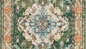 Dark Green area Rugs 9×12 Indira oriental Green area Rug In 2020