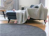 Dark Grey Round area Rug Modern Dark Gray Round Rug Round area Rug Nursery Rug